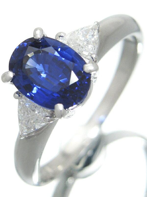【TASAKI】【鑑別書】タサキ『PT900リング サファイア2.16ct ダイヤモンド0.31ct』14号 1週間保証【中古】