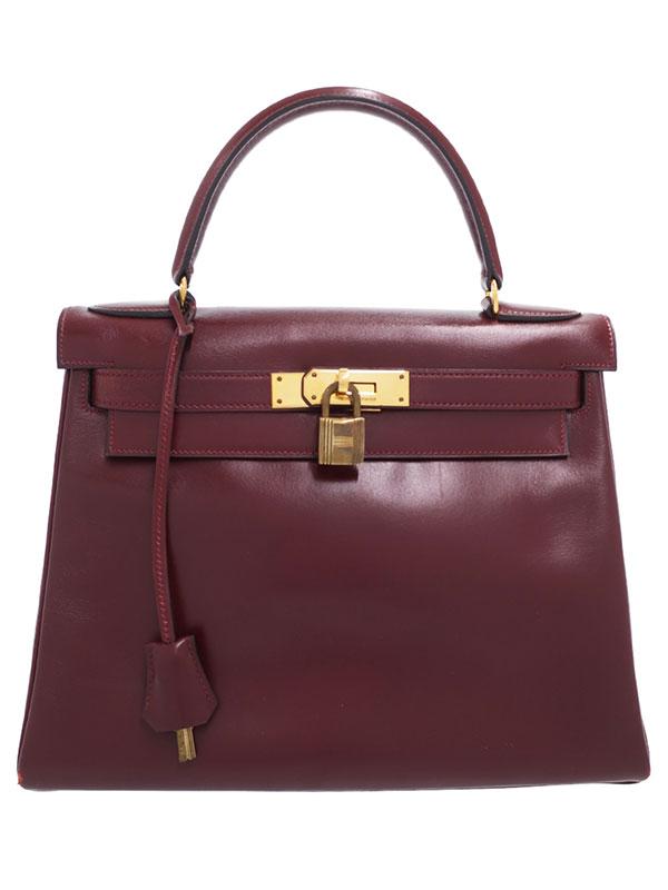 【HERMES】【ゴールド金具】エルメス『ケリー28 内縫い』I刻印 1979年製 レディース ハンドバッグ 1週間保証【中古】
