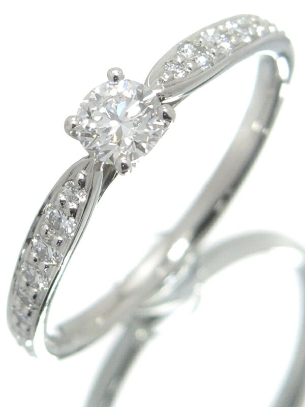 【TIFFANY&Co.】ティファニー『PT950 ハーモニーリング ダイヤモンド0.23ct』11.5号 1週間保証【中古】