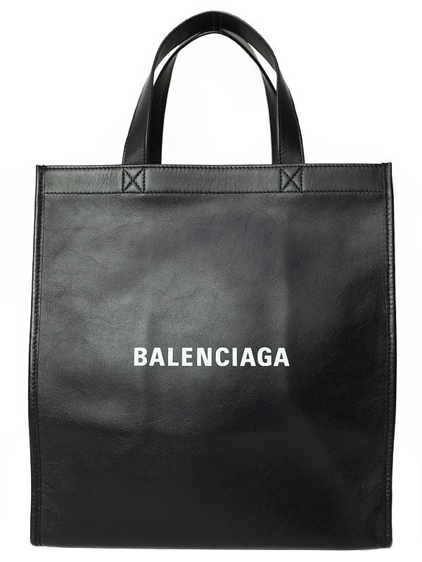 【BALENCIAGA】バレンシアガ『ロゴ ショッパー レザー トートバッグ』541842 レディース 1週間保証【中古】