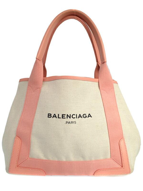 【BALENCIAGA】バレンシアガ『ネイビー カバS』339933 レディース ハンドバッグ 1週間保証【中古】