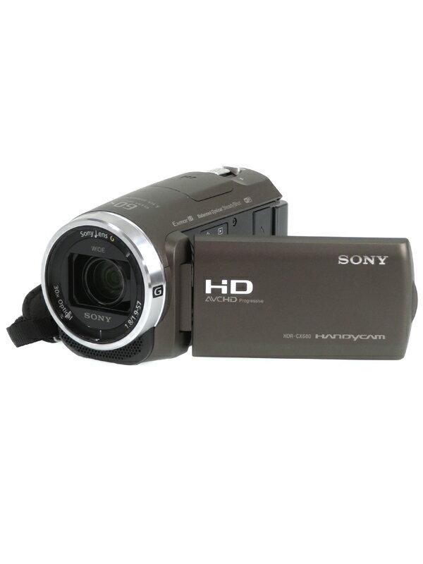 【SONY】ソニー『ハンディカム』HDR-CX680(TI) ブロンズブラウン フルHD 64GB 光学30倍 Wi-Fi NFC デジタルビデオカメラ 1週間保証【中古】