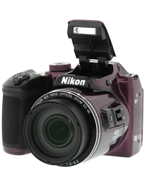 【Nikon】ニコン『COOLPIX B500』B500PU プラム 1602万画素 光学40倍 SDXC フルHD動画 コンパクトデジタルカメラ 1週間保証【中古】