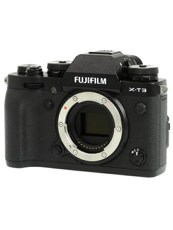 【FUJIFILM】富士フイルム『X-T3』F X-T3-B ブラック ボディ 2610万画素 APS-C SDXC 4K動画 ミラーレス一眼カメラ 1週間保証【中古】