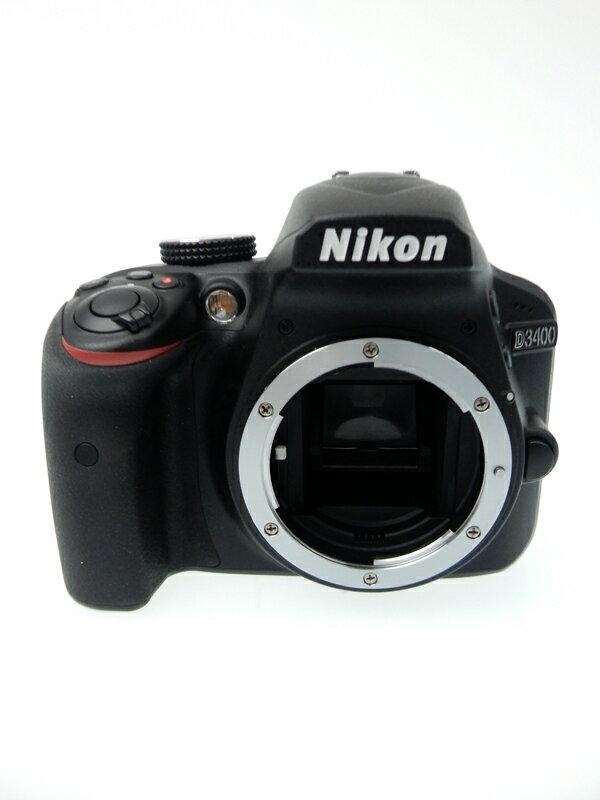 【Nikon】ニコン『D3400ボディ』ブラック 2416万画素 DXフォーマット フルHD動画 デジタル一眼レフカメラ 1週間保証【中古】