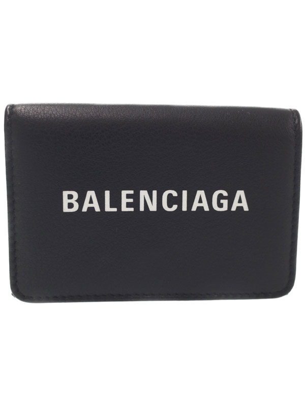 【BALENCIAGA】バレンシアガ『エブリデイ 三つ折り短財布』551921 メンズ レディース Wホック短財布 1週間保証【中古】