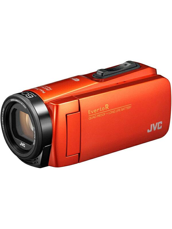 【JVC】ジェイブイシー『Everio R(エブリオアール)』GZ-RX680-D ブラッドオレンジ フルHD 水洗いOK 光学40倍 64GB SDXC デジタルビデオカメラ 1週間保証【中古】
