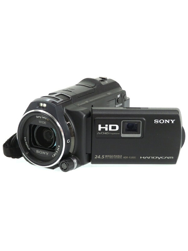 【SONY】ソニー『ハンディカム』HDR-PJ800(B) ブラック フルHD 64GB 光学12倍 Wi-Fi NFC デジタルビデオカメラ 1週間保証【中古】