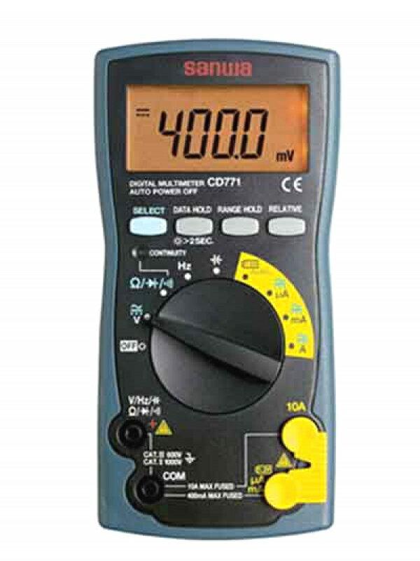 【三和電気計器】Sanwa『デジタルマルチメータ バックライト搭載』CD771-P 計測機器 1週間保証【新品】