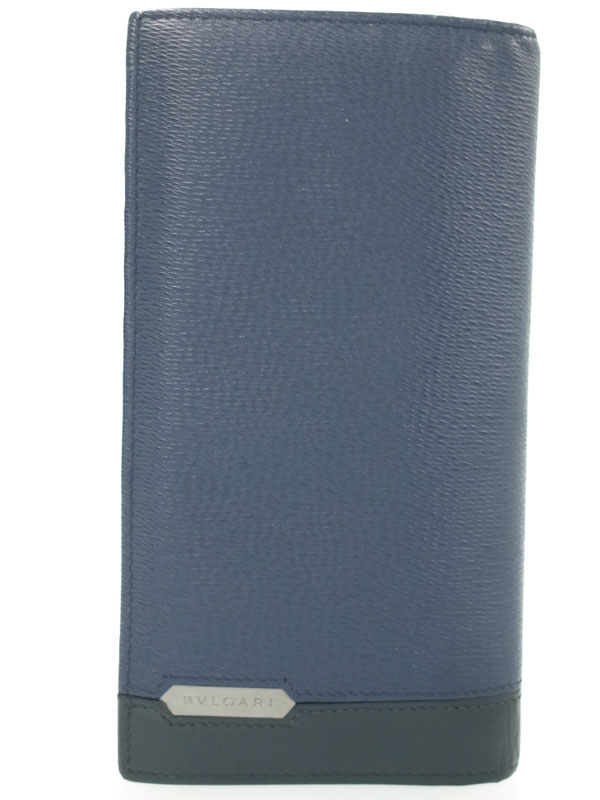 【BVLGARI】ブルガリ『セルペンティ スカリエ マン 二つ折り長財布』284732 メンズ 1週間保証【中古】
