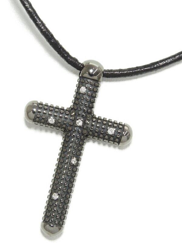 【DAMIANI】ダミアーニ『K18WG メトロポリタンドリーム クロス ダイヤ コード ネックレス』1週間保証【中古】