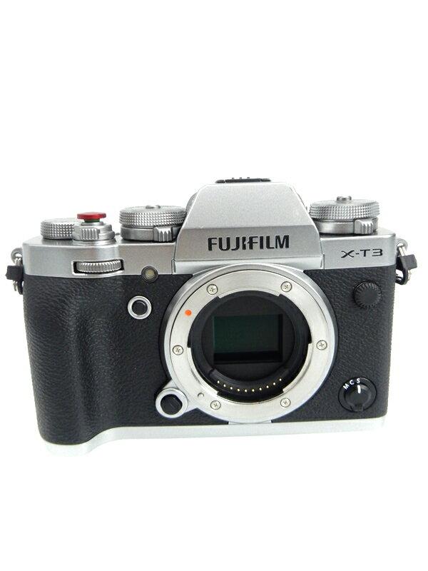 【FUJIFILM】富士フイルム『X-T3 ボディ』F X-T3-B ブラック ボディ 2610万画素 APS-C SDXC 4K動画 ミラーレス一眼カメラ 1週間保証【中古】