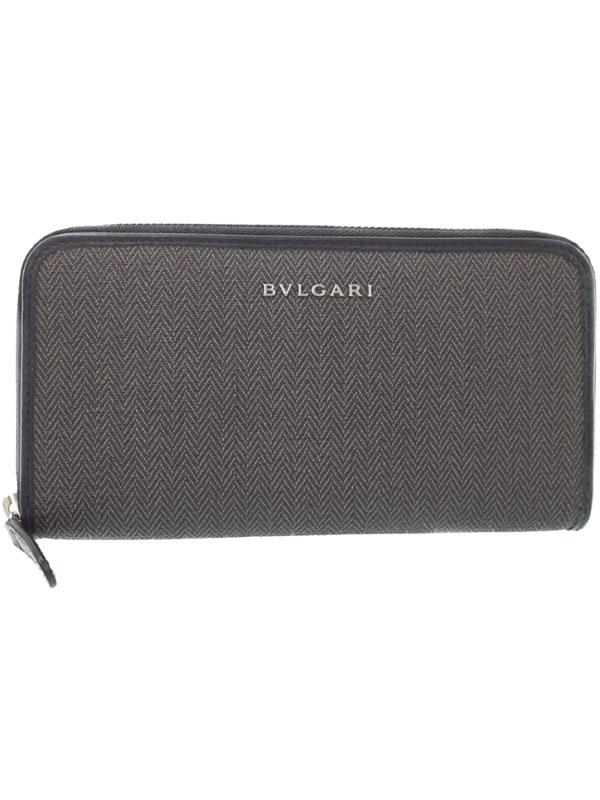【BVLGARI】ブルガリ『ウィークエンド ラウンドファスナー長財布』32587 メンズ 1週間保証【中古】