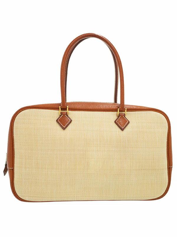 【HERMES】【ゴールド金具】エルメス『プリュムエラン』F刻印 2002年製 レディース ハンドバッグ 1週間保証【中古】