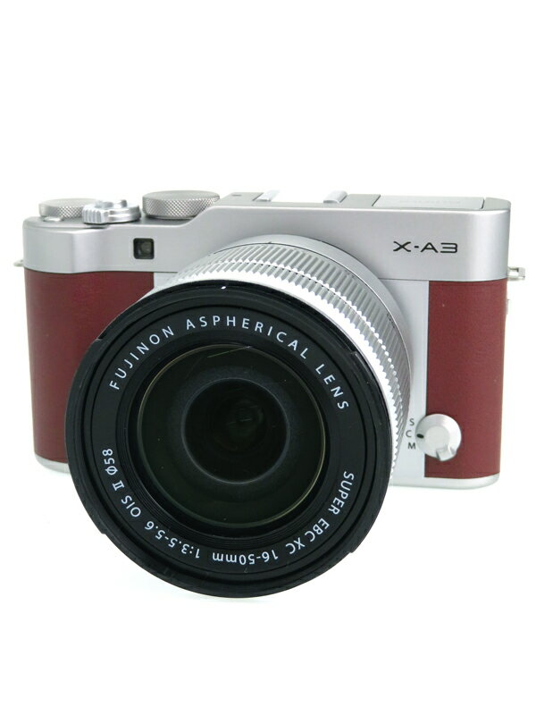 【FUJIFILM】富士フイルム『X-A3 レンズキット』F X-A3LK-XC-BW ブラウン XC16-50mmF3.5-5.6 OIS II ミラーレス一眼カメラ 1週間保証【中古】