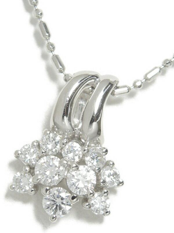 【TASAKI】【社外チェーン】【仕上済】タサキ『PT900/PT850 ネックレス ダイヤモンド0.52ct』1週間保証【中古】