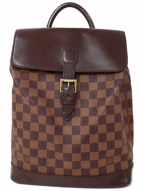 【LOUIS VUITTON】【リュックサック】ルイヴィトン『ダミエ ソーホー』N51132 レディース バックパック 1週間保証【中古】