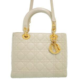 [克里斯汀·迪奥]克里斯汀·迪奥Lady Dior(M)女士2WAY包1周保修[使用] b01b / h17B