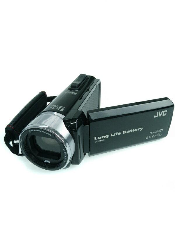 【JVC】【Victor】ジェイブイシー『Everio(エブリオ)』GZ-F117-B ブラック 光学40倍 3型タッチパネル デジタルビデオカメラ 1週間保証【新品】
