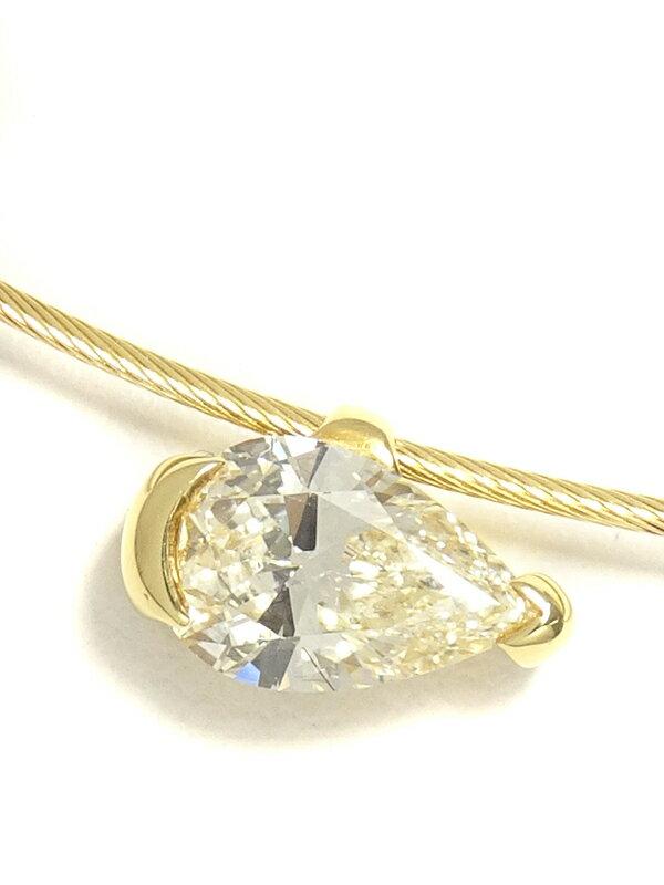 【TASAKI】タサキ『K18YG ネックレス ダイヤモンド0.76ct』1週間保証【中古】