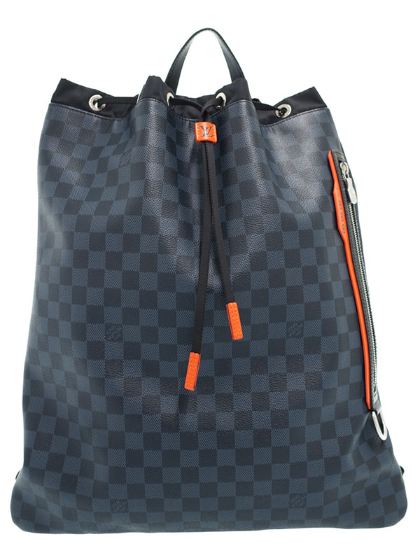 【LOUIS VUITTON】【リュックサック】ルイヴィトン『ダミエ コバルト ジムバックパック』N40170 メンズ 1週間保証【中古】