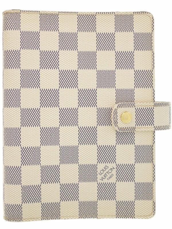 【LOUIS VUITTON】ルイヴィトン『ダミエ アズール アジェンダ MM』R20241 レディース 手帳カバー 1週間保証【中古】