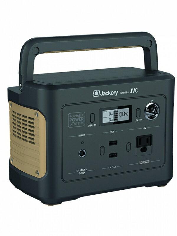 【JVC】ジェイブイシー『ポータブル電源 コンパクトボディタイプ』BN-RB3-C 86400mAh/311Wh USB バッテリー 防災 アウトドア 1週間保証【未使用品】【中古】
