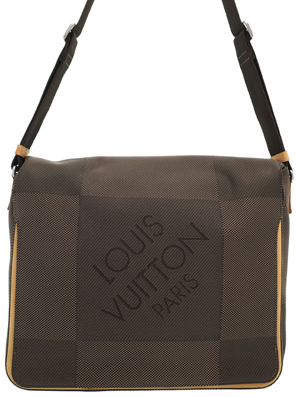 【LOUIS VUITTON】ルイヴィトン『ダミエ ジェアン メサジェ』M93030 メンズ ショルダーバッグ 1週間保証【中古】