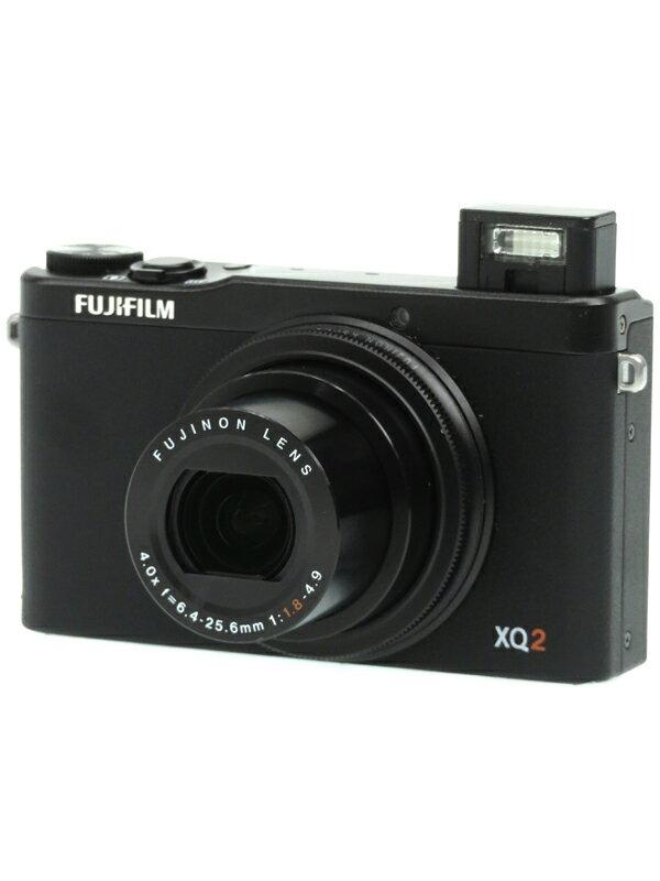 【FUJIFILM】富士フイルム『FUJIFILM XQ2』F FX-XQ2B ブラック 1200万画素 光学4倍 SDXC フルHD動画 コンパクトデジタルカメラ 1週間保証【中古】