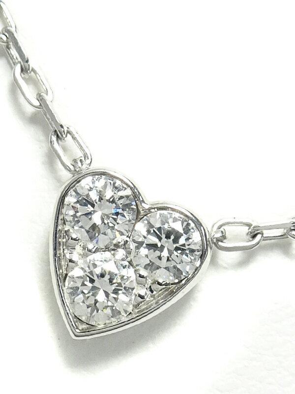【Cartier】カルティエ『K18WG ミニハート オブ カルティエ 3Pダイヤモンド ネックレス』1週間保証【中古】