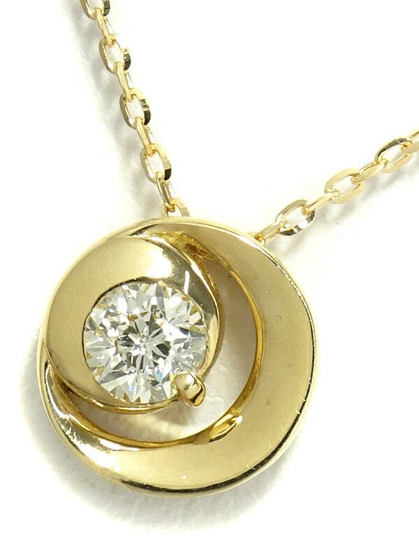 【Wish upon a star】ウィッシュアポンアスター『K18YG 1Pダイヤモンド0.112ct ネックレス』1週間保証【中古】