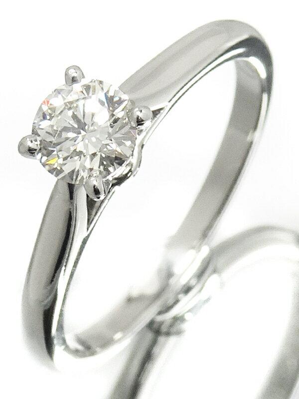 【Cartier】【MKコーフィル】カルティエ『PT950 1895 ソリテール リング 1Pダイヤモンド0.31ct』6号 1週間保証【中古】