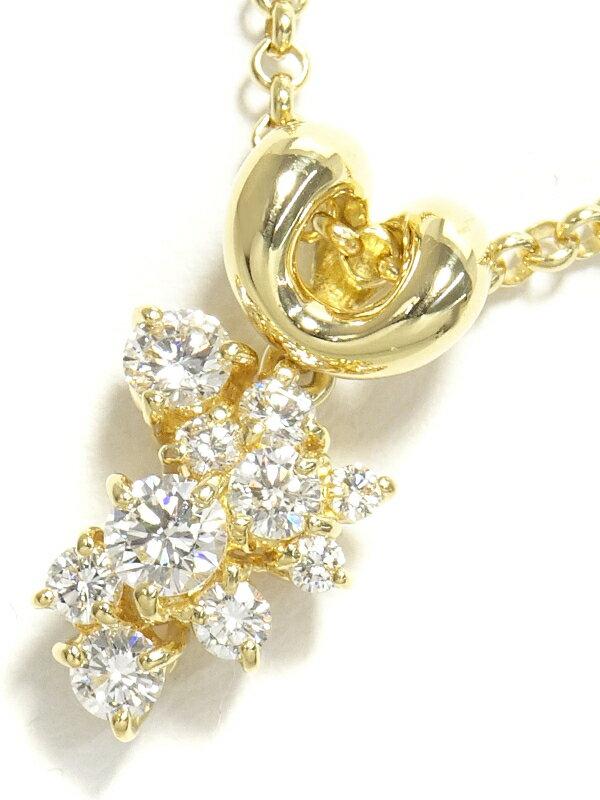 【星の砂】【チェーン社外品】ホシノスナ『K18YG ネックレス ダイヤモンド0.51ct』1週間保証【中古】