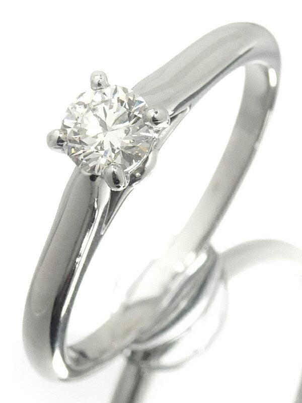【Cartier】【鑑定書】カルティエ『PT950 1895 ソリテール リング 1Pダイヤモンド0.19ct/E/VS-1/EXCELLENT』8号 1週間保証【中古】