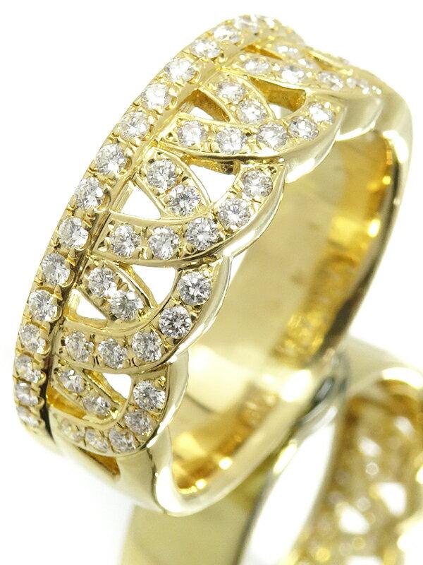 【星の砂】ホシノスナ『K18YG リング ダイヤモンド0.53ct』15号 1週間保証【中古】
