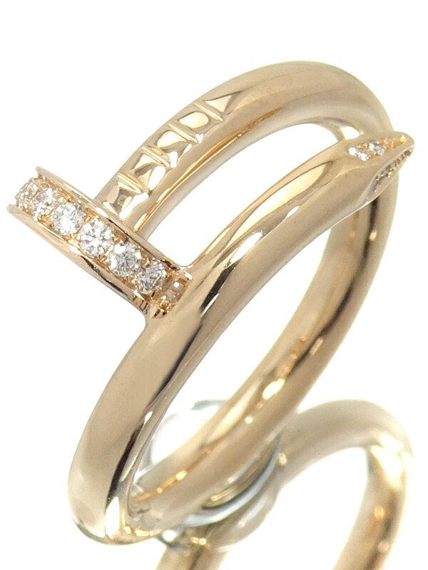【Cartier】【メーカー仕上済】カルティエ『K18PG ジュスト アンクル リング ダイヤモンド』12号 1週間保証【中古】