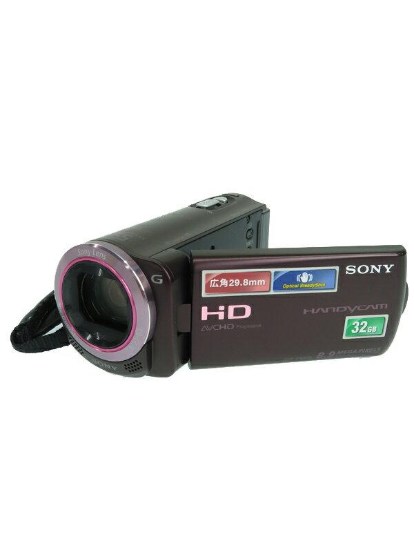 【SONY】【AVCHD対応ビデオカメラ】ソニー『ハンディカム ボルドーブラウン』HDR-CX270V 223万画素 3インチ 手ぶれ補正 デジタルビデオカメラ 1週間保証【中古】