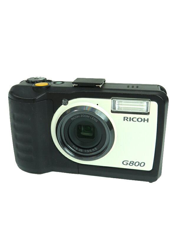 【RICOH】リコー『G800』 防水/防塵/耐衝撃 タフな現場用 1600万画素 広角28mm 光学5倍ズーム CALSモード SDXC 業務用デジタルカメラ 1週間保証【中古】