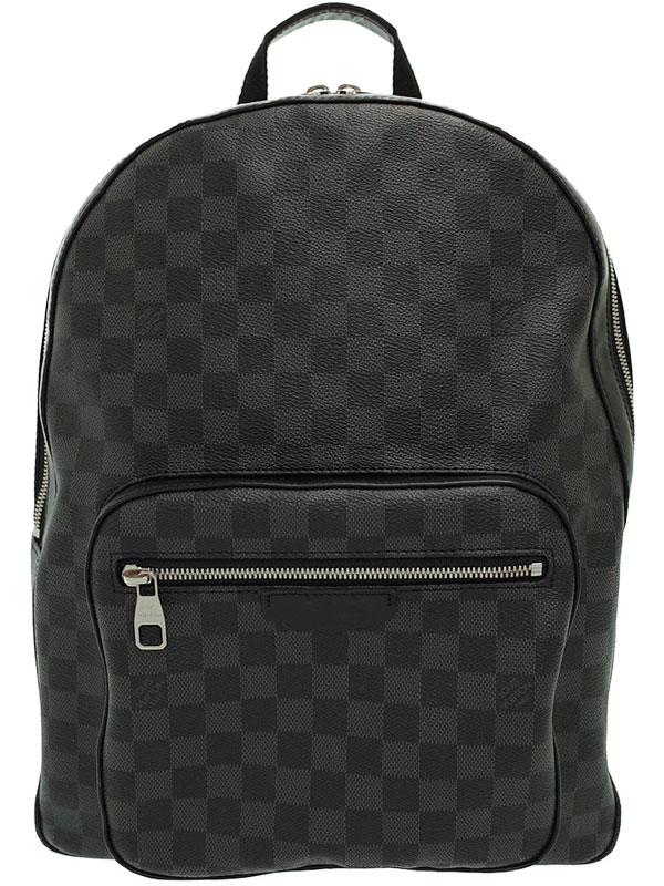 【LOUIS VUITTON】【リュックサック】ルイヴィトン『ダミエ グラフィット ジョッシュ』N41473 メンズ バックパック 1週間保証【中古】