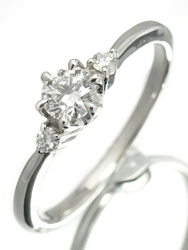 【Star Jewelry】【鑑定書】スタージュエリー『PT950 ダイヤモンド0.157ct/VS-1/F/EXCELLENT 0.03ct リング』9号 1週間保証【中古】
