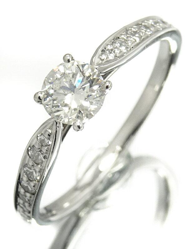 【TIFFANY&Co.】【鑑定書】【仕上済】ティファニー『PT950 ハーモニーリング ダイヤモンド0.38ct/F/VS-1/EXCELLENT』11.5号 1週間保証【中古】
