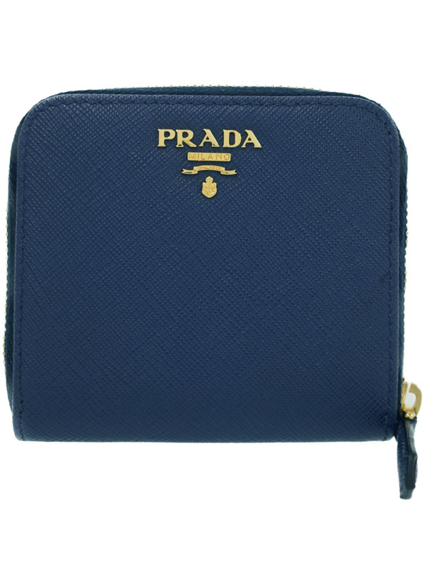 【PRADA】プラダ『レザー 二つ折り短財布』1ML522 レディース 1週間保証【中古】