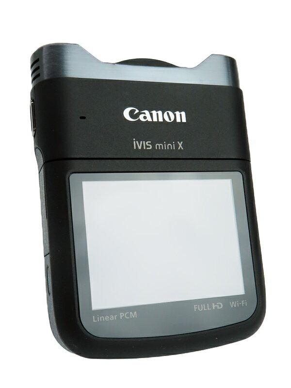 【Canon】キヤノン『iVIS mini X』9114B001 2014年10月 ブラック 2.7型 899万画素 フルハイビジョン 手ぶれ補正 デジタルビデオカメラ 1週間保証【中古】