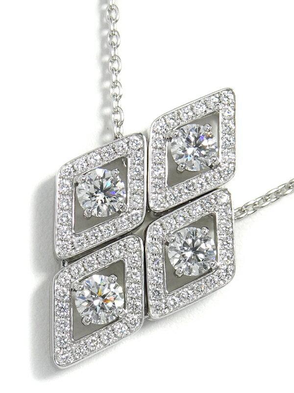 【MIKIMOTO】【仕上済】ミキモト『K18WG ダイヤモンド1.80ct ネックレス』1週間保証【中古】