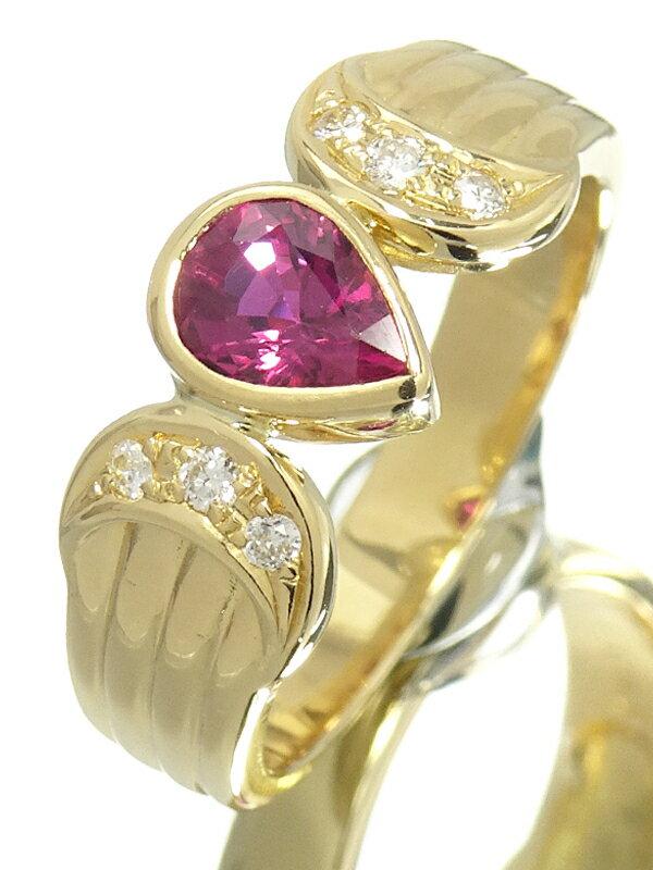 【MIKIMOTO】ミキモト『K18YG ルビー0.59ct ダイヤモンド0.07ct リング』11.5号 1週間保証【中古】