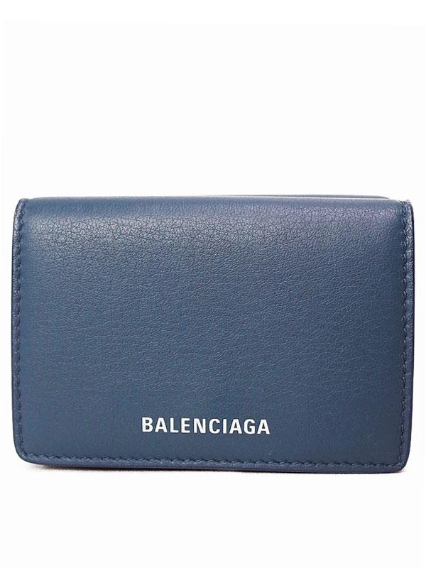 【BALENCIAGA】バレンシアガ『エブリデイ ミニ ウォレット』516402 ユニセックス 三つ折り短財布 1週間保証【中古】