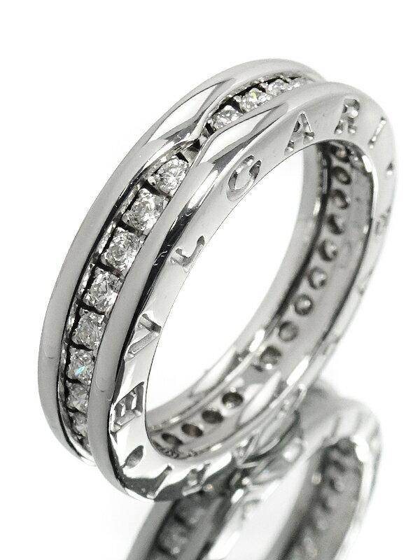 【BVLGARI】【フルダイヤ】ブルガリ『K18WG B-zero1リング(ビーゼロワン) 1バンド ダイヤモンド』12号 1週間保証【中古】