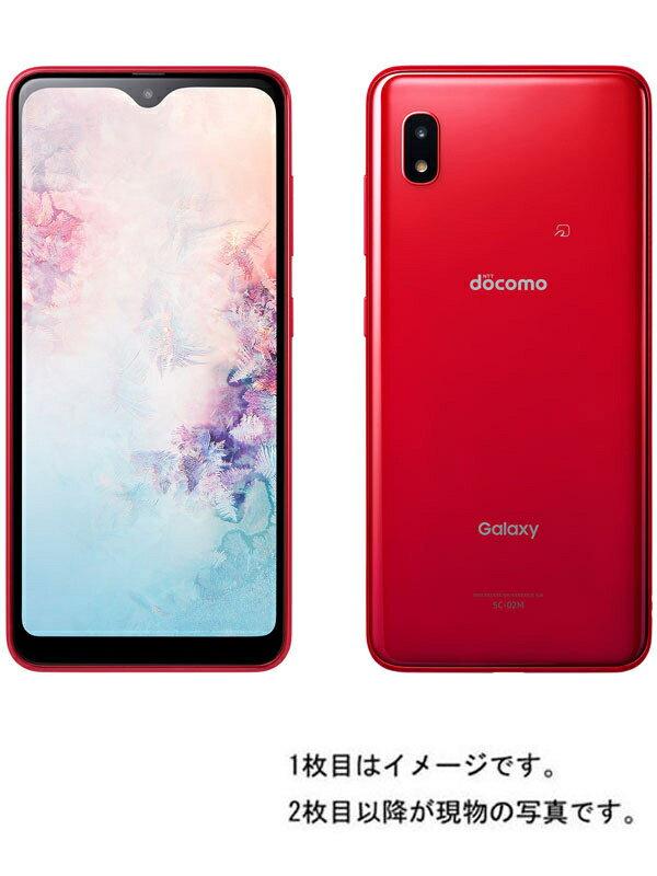 【SAMSUNG】【ギャラクシー】サムスン『Galaxy A20 32GB ドコモのみ レッド』SC-02M 2019年11月発売 スマートフォン 1週間保証【中古】