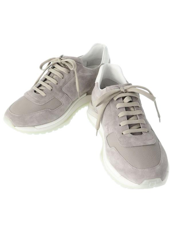 【Ferragamo】【ガンチーニ】【スエード】フェラガモ『BROOKLYN スニーカー size8 1/2』メンズ 1週間保証 靴【中古】