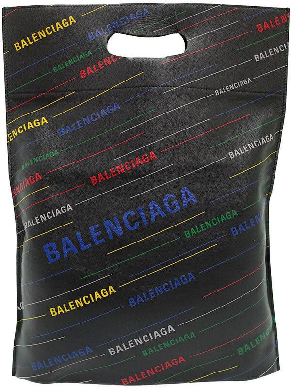 【BALENCIAGA】【ポーチ付】バレンシアガ『プラスティックバッグ ショッパーS』541908 メンズ トートバッグ 1週間保証【中古】